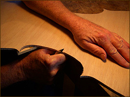 Jim wimmer making violin