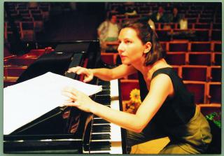 Tatjana practicing