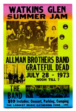 Watkins glen concert poster 2