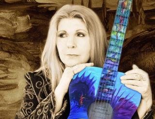 Annie haslam art guitar