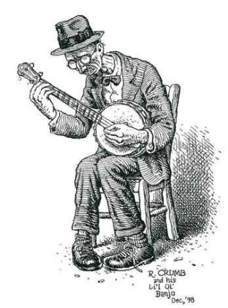 R crumb banjo