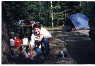 Ellen camping